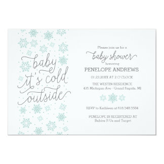 Baby It's Cold Outside Winter Baby Shower 13 Cm X 18 Cm Invitation Card