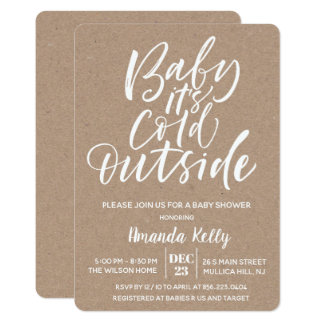 Baby Its Cold OutsideModern Baby Shower Invitation
