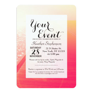 """""""Baby It's Hot Outside."""" Typography on Summer Day 13 Cm X 18 Cm Invitation Card"""