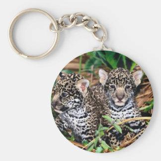 Baby jaguars basic round button key ring