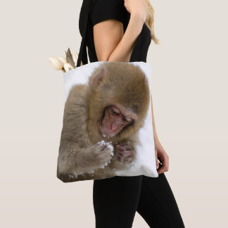 Baby Japanese Macaque | Snow Monkey Tote Bag
