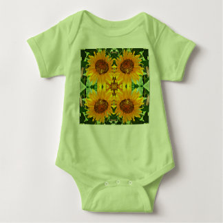 "Baby Jersey Body Suit ""sunflowers' Baby Bodysuit"