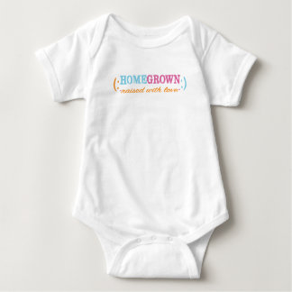 "Baby Jersey Bodysuit ""HomeGrown""/PINK"