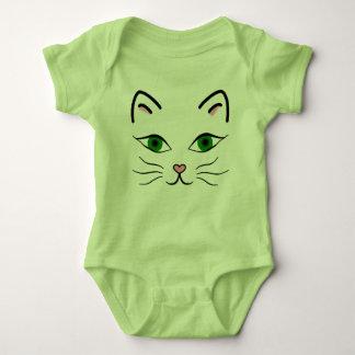 Baby Jersey Bodysuit - Kitty Face