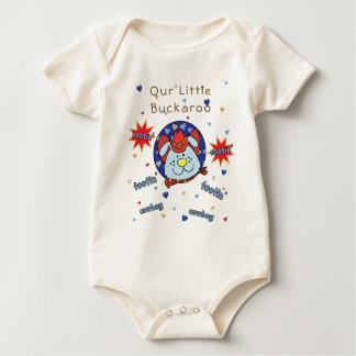 """Baby Jersey Bodysuit """"Tootin' Cowboy"""" Personalize"""