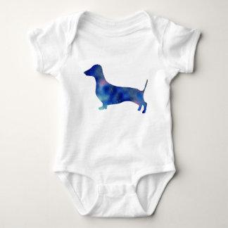 Baby Jersey Bodysuit, White Dachshund Dog Baby Bodysuit