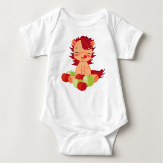 Baby Jersey Bodysuit with cute pony pattern.