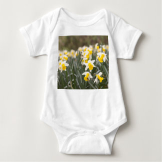 Baby Jersey Bodysuit with Daffodil print