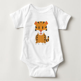 Baby Jersey Bodysuit with happy tiger