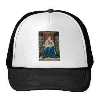 Baby Jesus and Mary on Christmas Mesh Hats
