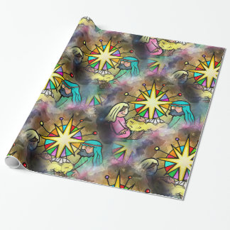 Baby Jesus Christmas Watercolour Wrapping Paper