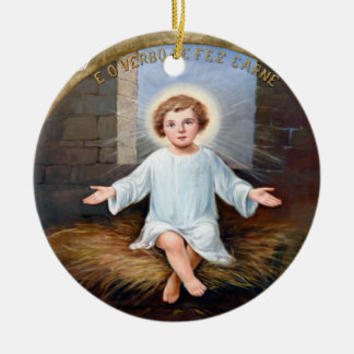 Baby Jesus decorative artwork Christmas Ornament
