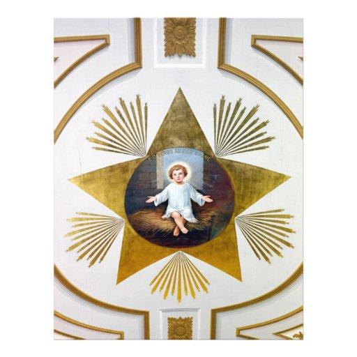 Baby Jesus decorative artwork Personalized Flyer