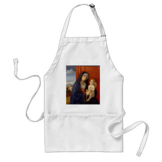 Baby Jesus Holding Gold Pear Standard Apron