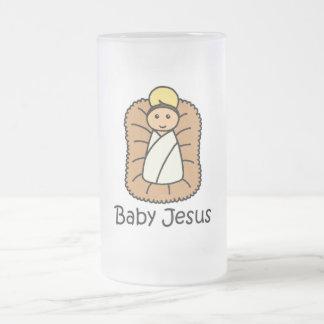 Baby Jesus In A Manger Mugs