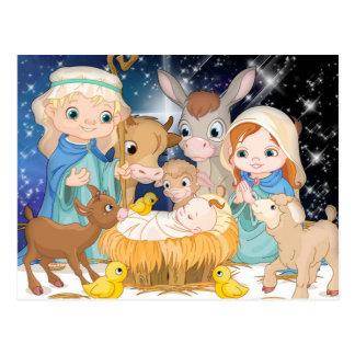 Baby Jesus in a manger Postcard