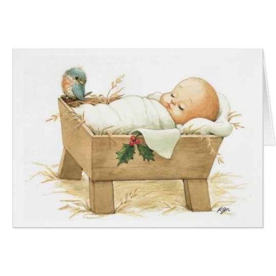 Baby Jesus Merry Christmas Greeting Card