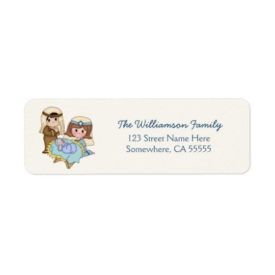 Baby Jesus Nativity Christmas Return Address Label