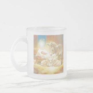 Baby Jesus Nativity with Lambs and Donkey Coffee Mugs
