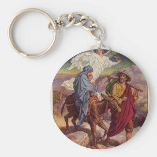Baby Jesus on his way to Egypt Key Chain