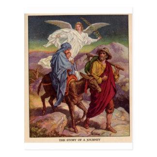 Baby Jesus on his way to Egypt Postcard