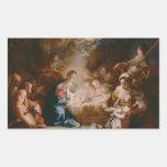 Baby Jesus Rectangular Sticker