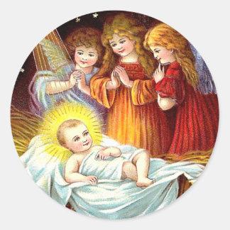 Baby Jesus Round Sticker