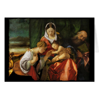 Baby Jesus Saint Catherine and Mary Card