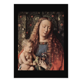 Baby Jesus Touching a Dove 14 Cm X 19 Cm Invitation Card