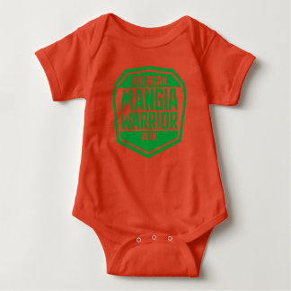 Baby Jumper with American Mangia Warrior logo Baby Bodysuit