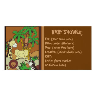Baby Jungle 10 Baby Shower Card