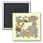 Baby Jungle Animals Tshirts and Gifts Fridge Magnet