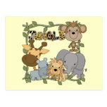Baby Jungle Animals Tshirts and Gifts Postcards