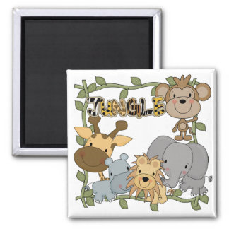 Baby Jungle Animals Tshirts and Gifts Square Magnet