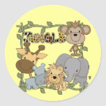 Baby Jungle Animals Tshirts and Gifts Stickers