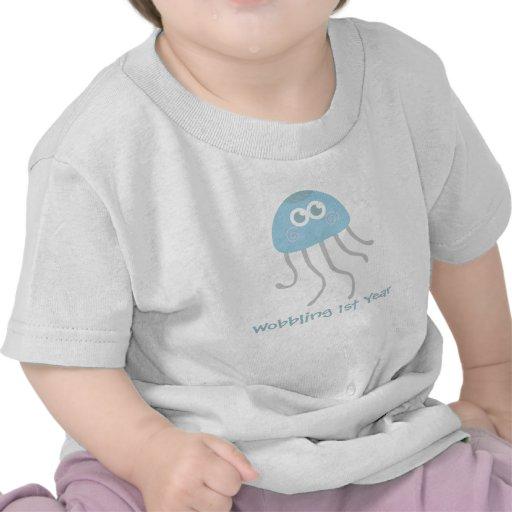 Baby: Kawaii wobbly jellyfish with cutesy eyes T Shirt