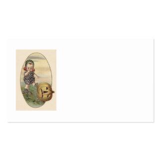Baby Kicking Jack O' Lantern Pumpkin Pack Of Standard Business Cards