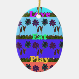 Baby kids love play colors.png ceramic oval decoration