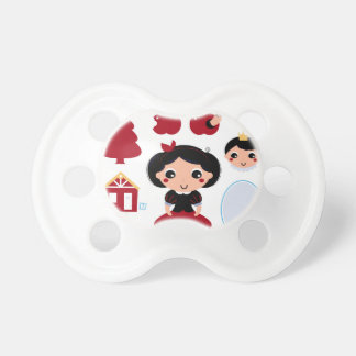 Baby kids pacifier with Fairytale girl with Prince