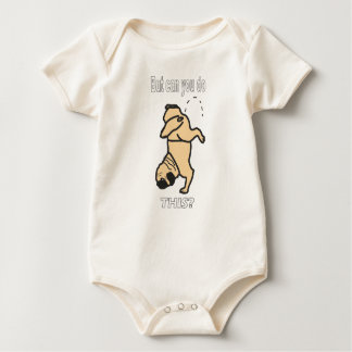 Baby kids pug dog baby bodysuit