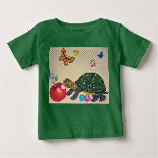 Baby, Kids' Turtle T Shirt, Original Art, Colorful Baby T-Shirt