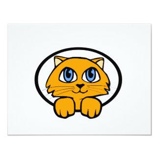 Baby Kitten Cartoon 11 Cm X 14 Cm Invitation Card