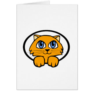 Baby Kitten Cartoon Greeting Card