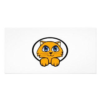 Baby Kitten Cartoon Photo Greeting Card