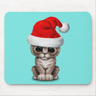 Baby Kitten Wearing a Santa Hat Mouse Mat