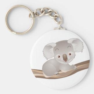 Baby Koala Basic Round Button Key Ring