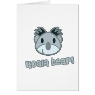 Baby Koala Bear Cartoon Greeting Card