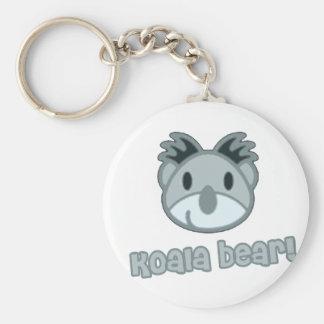Baby Koala Bear Cartoon Basic Round Button Key Ring