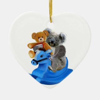 BABY KOALA BEAR ROCKS CHRISTMAS ORNAMENT