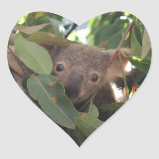 Baby Koala Heart Sticker